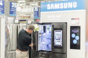 Team member with Samsung refrigerator